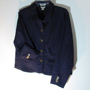 Christopher & Banks Women Navy Blue Stretch Jacket